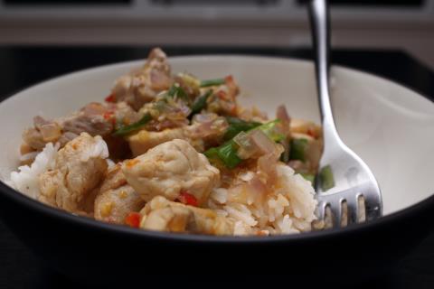 Lemongrass chicken and rice