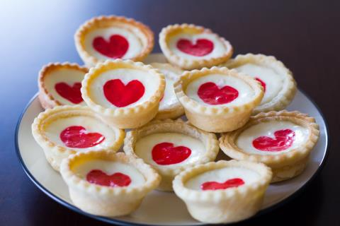 Mini Heart Cheesecakes