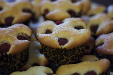 Raspbery lemon muffins
